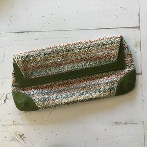 Woven fold over Clutch Shiraleah ~ Anthropologie